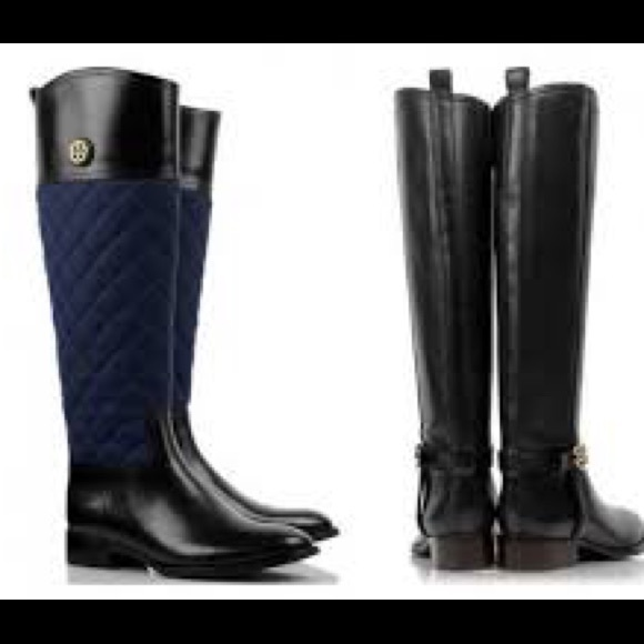 e9f1b66c7f5a SALE💥TORY BURCH ROSALIE QUILTED NAVY BLACK BOOTS.  M 5a864dd4d39ca2d9ee1a862d